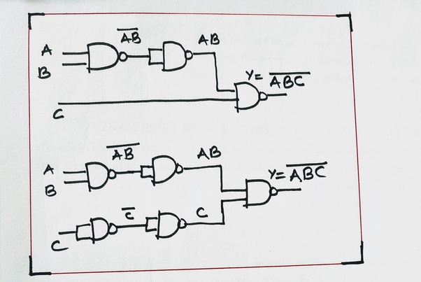 Is it possible to make a 3 input NAND or NOR gate with 2