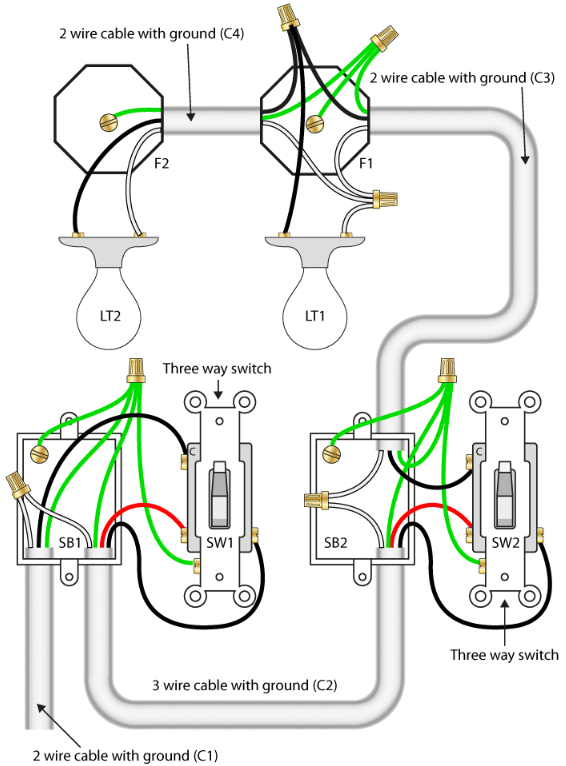 How To Wire 3 Way Switch With Multiple Lights : switch, multiple, lights, 3-way, Switch, Lights, Quora
