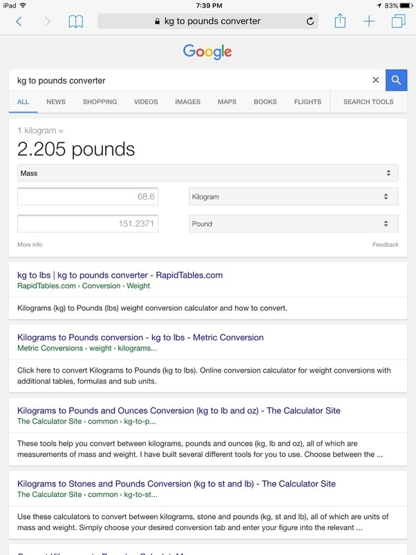 How many pounds is 68.6 kg? - Quora