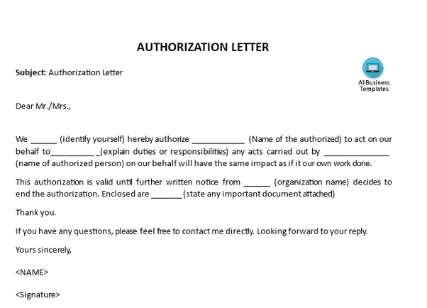 What is the best way to write an authorization letter to receive important documents  Quora