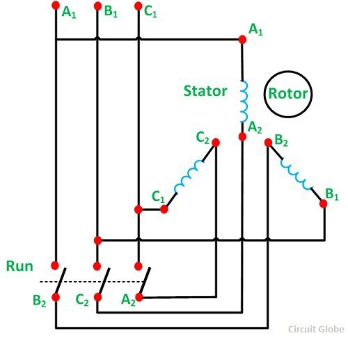 wye delta starter wiring diagram honeywell central heating timer what is the proper star-delta motor connection? - quora