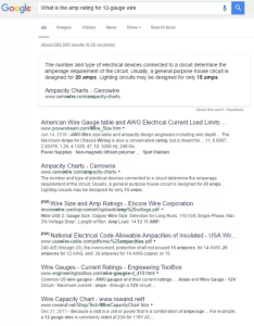 Here is  snapshot of the first page with results for search  cwhat amp rating gauge wire   also what quora rh