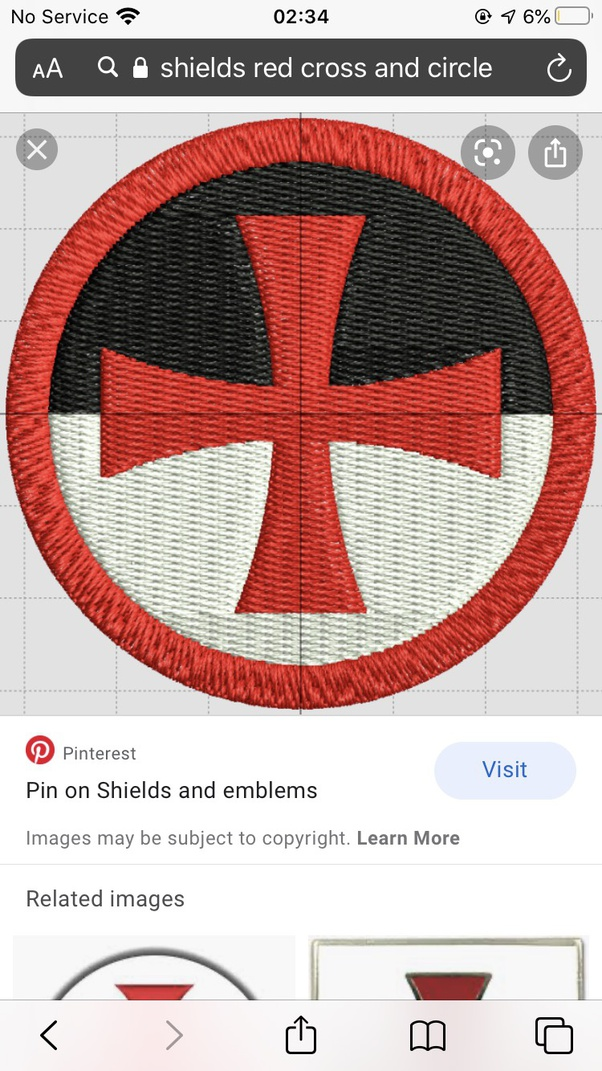 Red Circle With Line : circle, Shield, White, Cross, Circle, Center?, Quora
