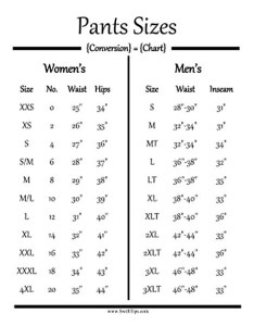 Above this is  pants size conversion chart again    just grab tape measure and see where your on the women  side of also there for men clothing to am rh quora