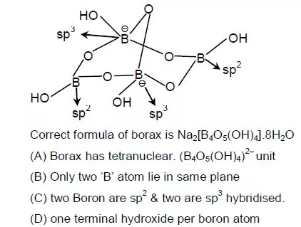 borax crystal diagram left brain right what is the hybridisation of boron in with an explanation quora here two atoms are negatively charged and tetrahedrally sp3 bonded other neutral trivalent sp2 planar geometry