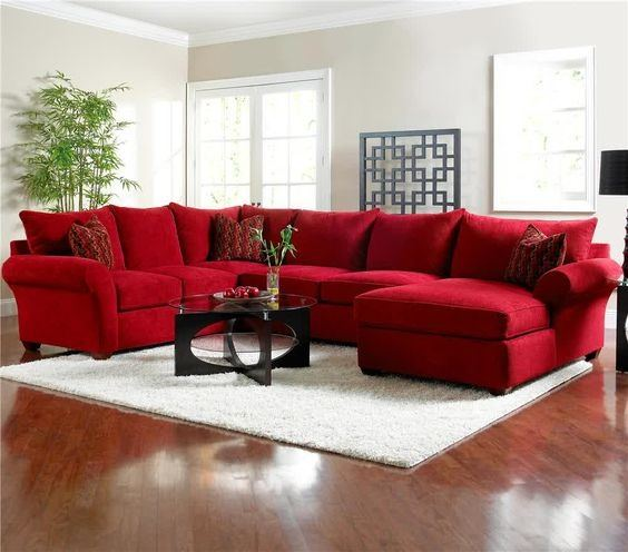 red couch in living room table lamps what color area rug complements a quora light gray to white