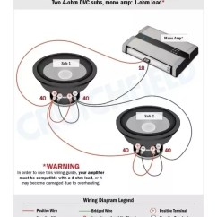 Subwoofer Wiring Diagram Dual 2 Ohm Painless 10202 How To Wire 500 Watt Subwoofers A 1500 Amp Monoblock Quora Voice Coil You Will Want Your Subs Be 4 Ohms Dvc If I Down 1 In Best Case Senario Or With Svc