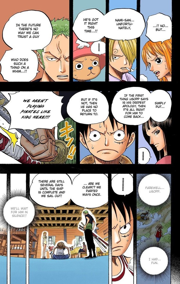 Luffy's best friends are bon clay, shanks, jinbe, sabo, usopp, sanji and zoro Why is Luffy and Zoro's relationship so special? - Quora