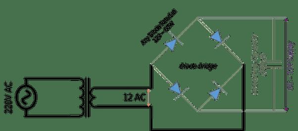 How to convert 230 volts A.C supply into 12 volt, 5 A D.C