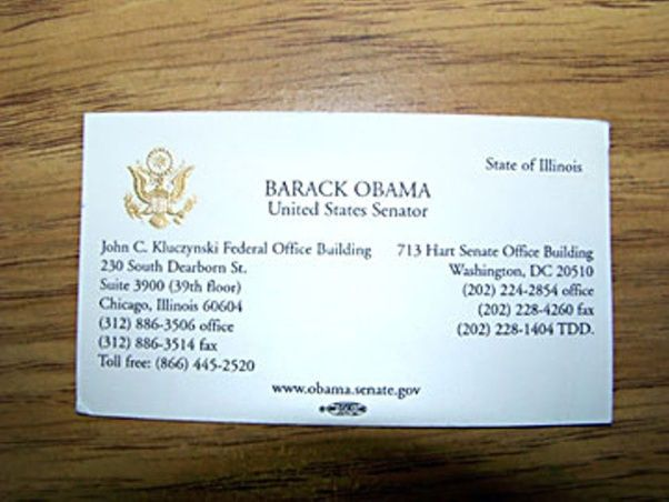What do the business cards of famous people look like  Quora