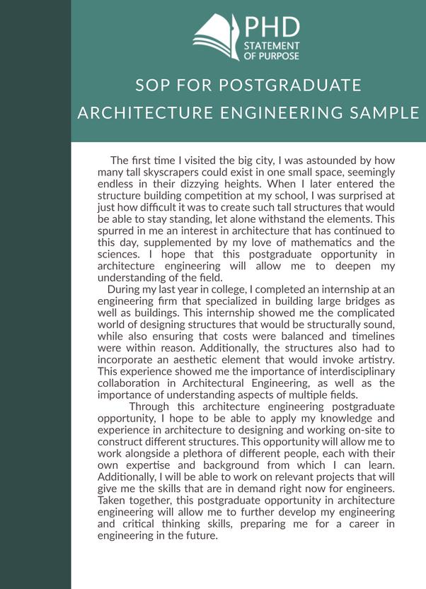 personal statement architecture