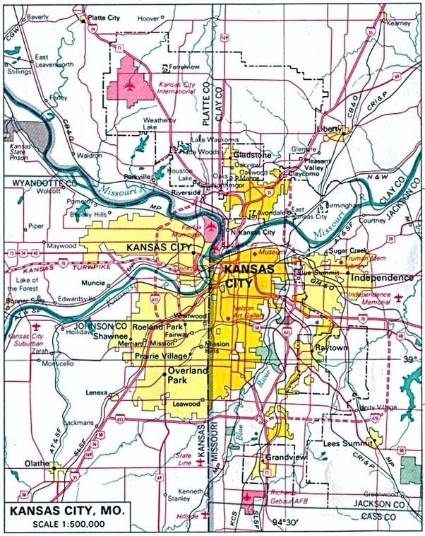 Why is Kansas City split between Kansas and Missouri? - Quora