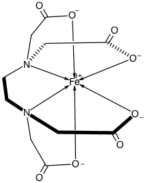 What are the structures of EDTA and a metal-EDTA complex