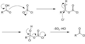 How would you prepare a sample of propanoyl chloride from