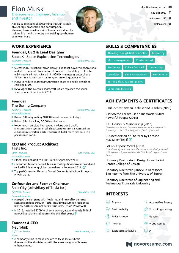 resume builder online with photo