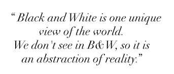 What does the expression 'the world is black and white