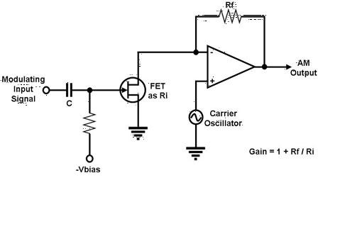 amplitude modulation circuit of analog multiplier basiccircuit