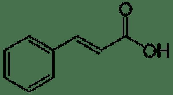 Why is benzoic acid (pka=4.20) more acidic than cinnamic