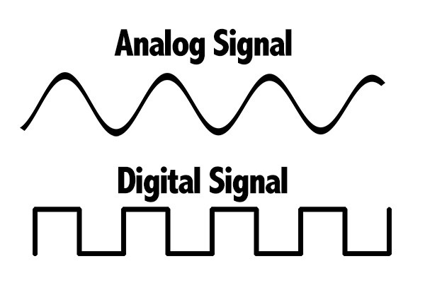 What is the difference between digital signal and analog