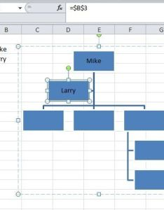 How do  create  data linked org chart in excel also to quora rh