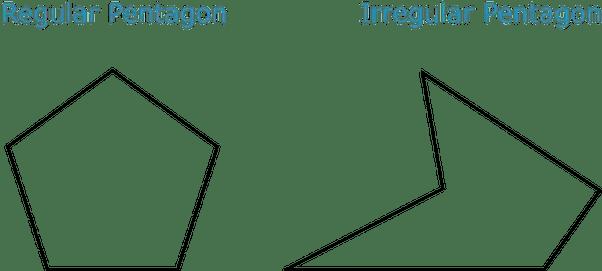 Is a pentagon classified as a regular or irregular shape