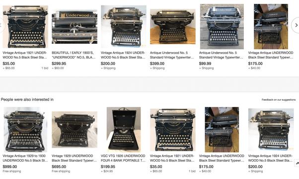 Underwood Typewriter Serial Number