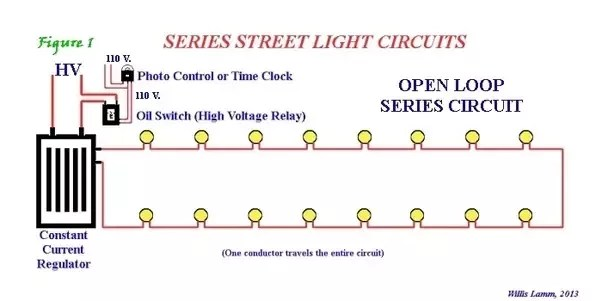 led christmas light string wiring diagram 12v hydraulic pump what are the uses of series circuits quora each fixture had a shunting device to complete circuit when bulb burned out constant current regulator compensated for changes in number
