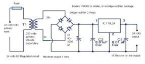 Can I use a 240v AC as a 24v DC and get the same output of