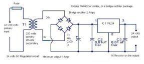 Can I use a 240v AC as a 24v DC and get the same output of