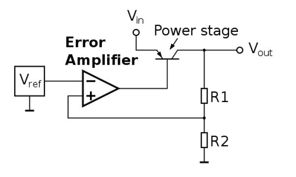 Circuit Diagram Of Series Voltage Regulator With Feedback