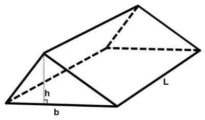 Geometry: A right triangular prism has volume equal to 288