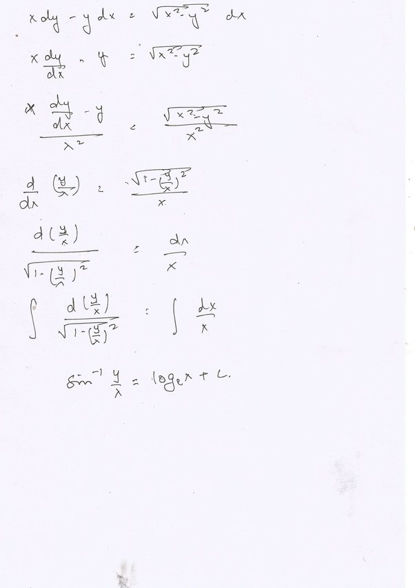 What is the solution of the differential equation [math]x