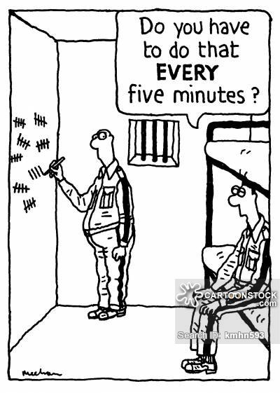 What do prisoners often think about when they are in jail
