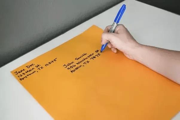 How Should I Address A Manila Envelope Should I Write The
