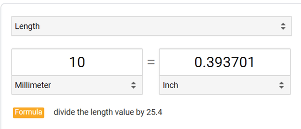 How many inches are there in 10mm? - Quora