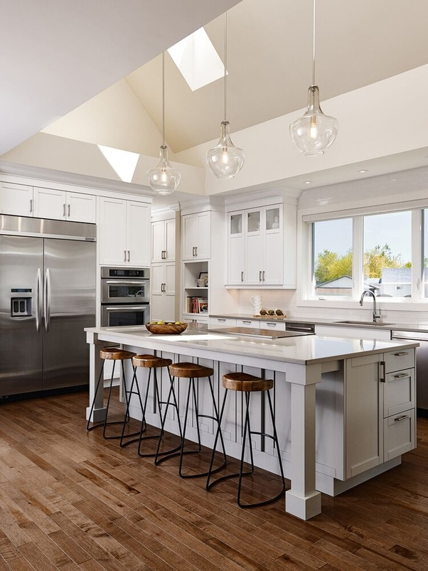 kitchen counter overhang hanging light fixtures what is the standard for a countertop quora bar top generally 8 1 2 to 10