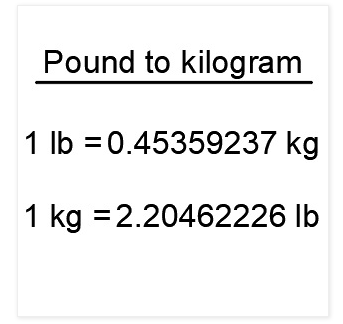 1 Kg To June 2020