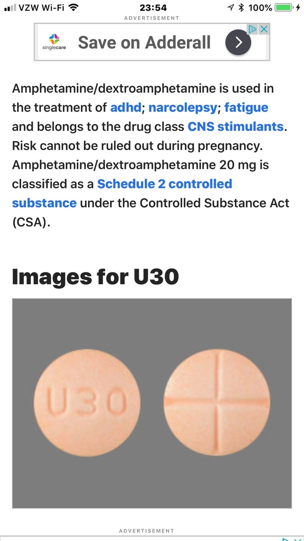 What pill has U30 on it? - Quora