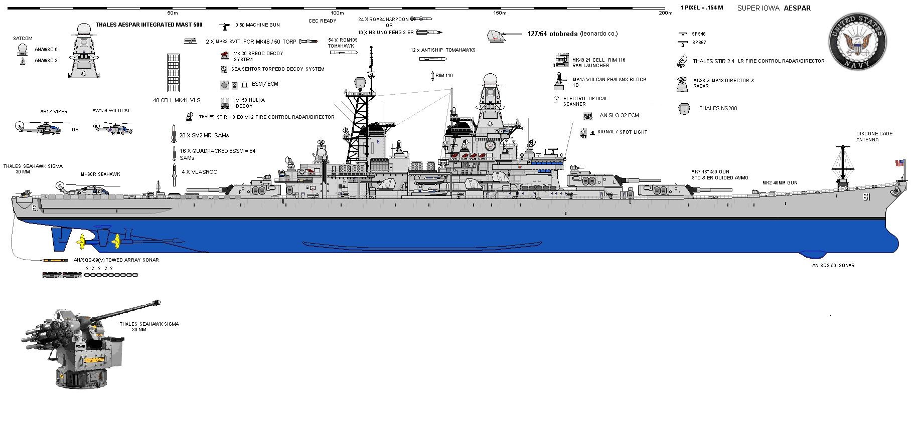 hight resolution of  complete with an aespar mast from thales 10 100 mile sabot ergms from italy s leonardo oto melara for the 16 guns even gutting the ship getting