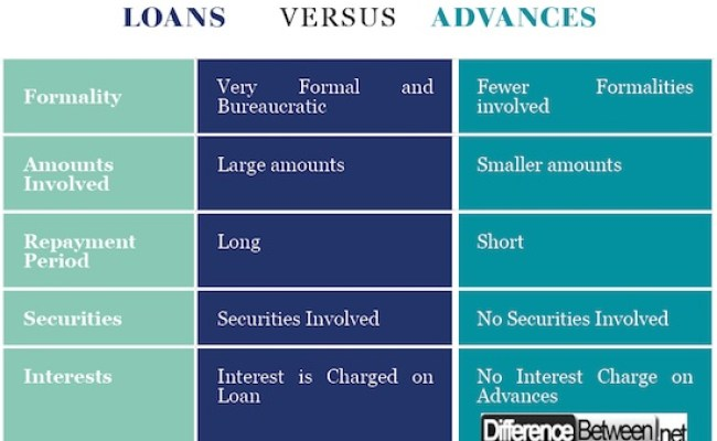 What Is The Difference Between A Loan And An Advance Quora