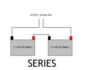 Which of two batteries drains out first if it is connected