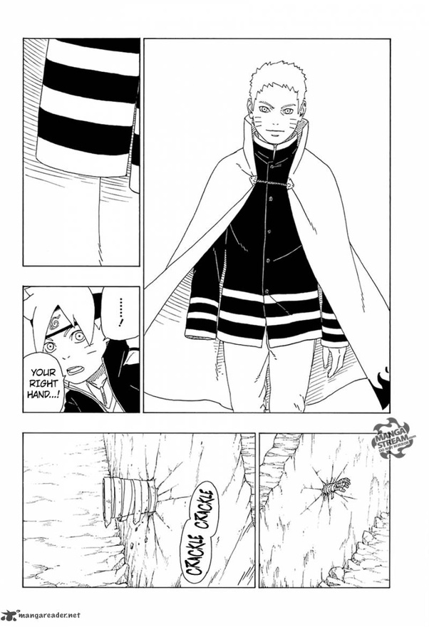 Can Naruto feel pain in his prosthetic limb? If the arm
