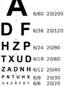 The left hand side     is  cone   position in metres  opthalmologist room or optometrist relative to below displayed snell chart also what meant by vision range with without glasses rh quora