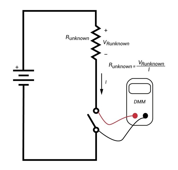 across a component in a circuit is measured using a voltmeter this