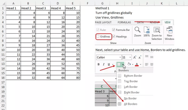 How To Draw A Line In Excel Spreadsheet