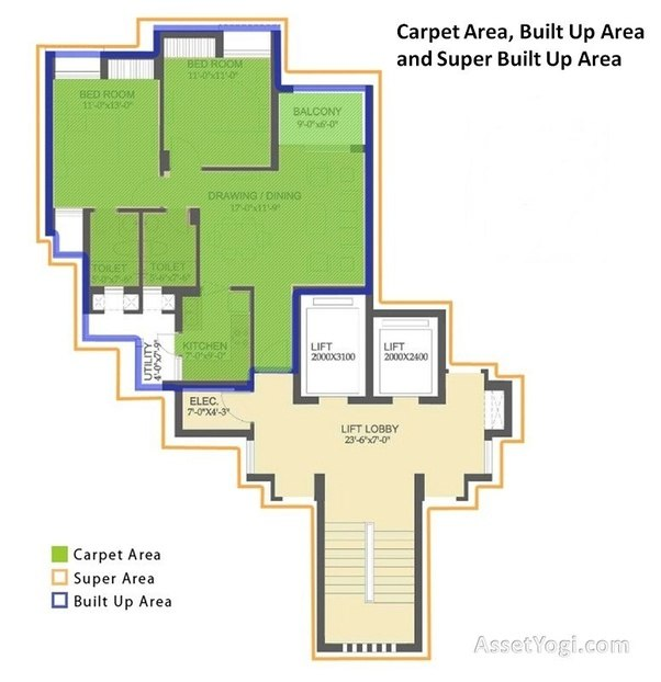 What is the difference between carpet area and square feet
