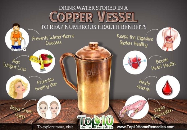 What are the benefits of drinking water in COPPER Cup or MUG  Quora