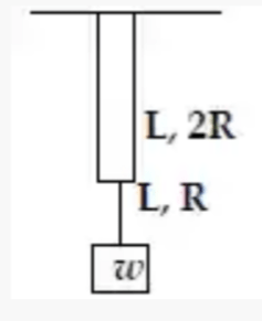 Two wires of the same material and same length L but radii