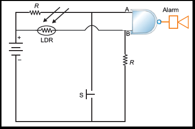 Does LDR (light dependent resistor) act a an AND gate in a