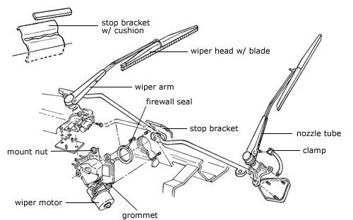 1965 Ford Mustang Wiper Motor Wiring Diagram The Intermittent Windshield Wipers Were Invented Almost